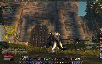 Me in Front Of The Greymane Wall... on an elephant!