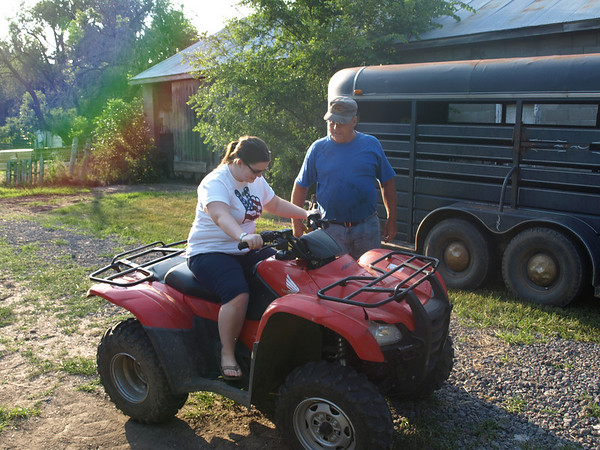 Amber and Rodge on the Farm